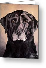 Hunting Buddy Black Lab Greeting Card