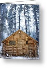 Hunting Cabin In Alberta Greeting Card