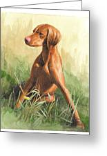 Hunting Dog Puppy Watercolor Portrait Greeting Card