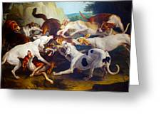 Hunting Dogs Detail Greeting Card
