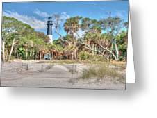 Hunting Island - Beach View Greeting Card