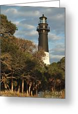 Hunting Island Lighthouse 1 Greeting Card