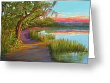 Hunting Island Sunset Greeting Card