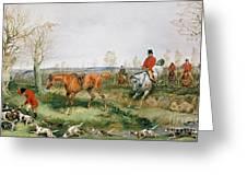 Hunting Scene Greeting Card