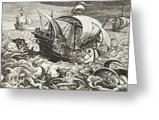 Hunting Sea Creatures Greeting Card