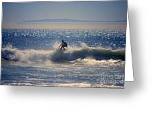 Huntington Beach California Surfer Greeting Card