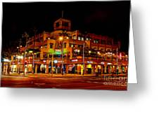 Huntington Beach Downtown Nightside 1 Greeting Card