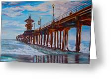 Huntington Beach Pier 2 Greeting Card