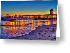 Huntington Beach Pier Sundown Greeting Card
