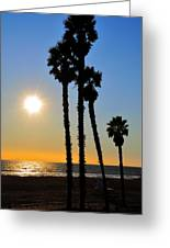 Huntington Beach Sunset Greeting Card