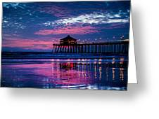 Huntington Pier - 2 Greeting Card
