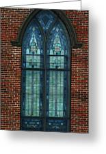 Stained Glass Arch Window Greeting Card