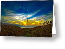 Huron Evening 2 Oil Greeting Card