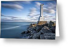 Huron Harbor Lighthouse Greeting Card