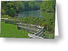 Huron River Bend Greeting Card