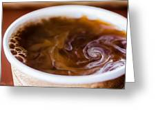 Hurricane In A Cup Greeting Card by Hastings Franks