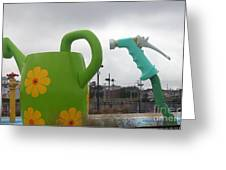 Hurricane Irene At The Waterpark Greeting Card