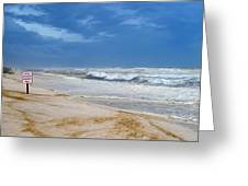 Hurricane Isaac Impacts Navarre Beach Greeting Card