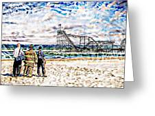 Hurricane Sandy First Responders Greeting Card by Jessica Cirz