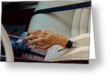 Hurst Shifter And Hand Brake Greeting Card