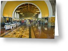 Hussel And Bussel At The Union Train Station Los Angeles Ca Greeting Card