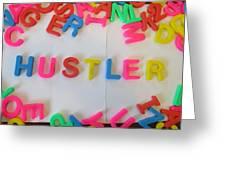 Hustler - Magnetic Letters Greeting Card