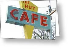 Hut Cafe Greeting Card