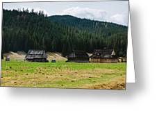Huts In The Hills Greeting Card