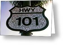Hwy 101 Greeting Card