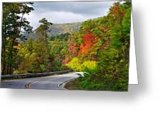 Hwy 281 In The Fall  Greeting Card
