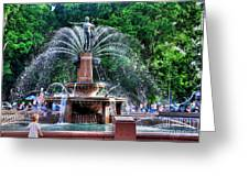 Hyde Park Fountain Greeting Card