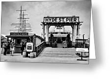Hyde St. Pier Greeting Card