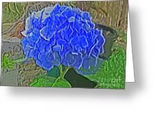 Hydrangea Blues Greeting Card