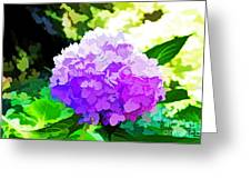 Hydrangea In Watercolor Greeting Card