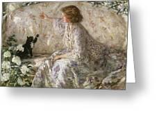 Hydrangeas, 1901 Greeting Card