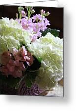 Hydrangeas Bouquet Greeting Card