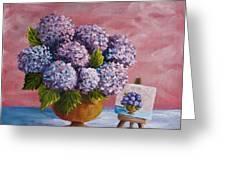 Hydrangeas From My Garden Greeting Card