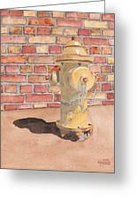 Hydrant Greeting Card