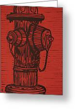Hydrant Greeting Card by William Cauthern