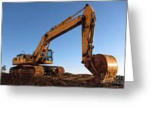 Hydraulic Excavator Greeting Card