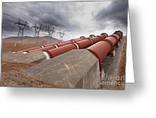 Hydroelectric Plant In Renewable Energy Concept Greeting Card