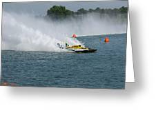 Hydroplane Gold Cup Race Greeting Card by Michael Rucker