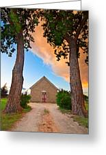 Hygiene Colorado Church Of The Brethren 1880 Sunset Greeting Card