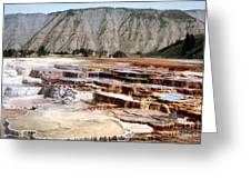 Hymen Terrace Yellowstone National Park Greeting Card