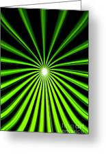Hyperspace Electric Green Portrait Greeting Card