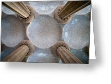 Hypostyle Room Ceiling In Park Guell Greeting Card
