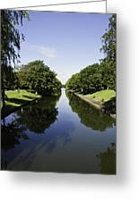 Hythe Military Canal Greeting Card by Lesley Rigg