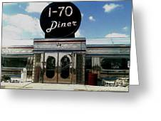 I-70 Diner In Fresco Greeting Card