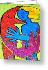 I Am Blue But Still Alive Do Not Eat Me Greeting Card