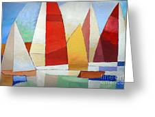 I Am Sailing Greeting Card by Lutz Baar